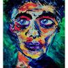 Expressionismus, Bunt, Aquarellmalerei, Liebe