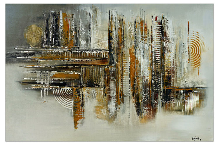 Acrylmalerei, Malerei, Auftragsmalerei, Abstrakt,