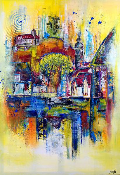 Vaihingen, Malen, Gemälde, Acrylmalerei, Abstrakt, Malerei