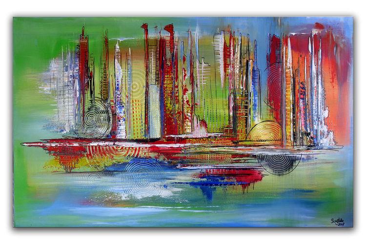 80x140, Gelb, Dekoration, Abstrakt, Grün, Wohnzimmer