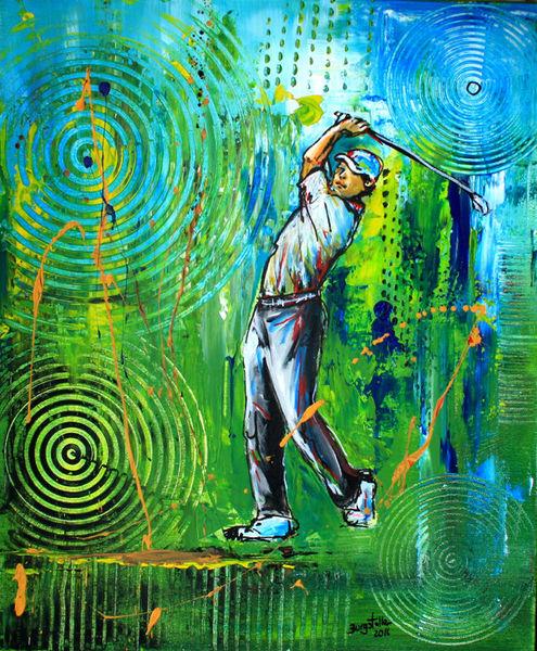 Malerei, Gemälde, Dekoration, Golf, Wohnzimmer, Golfspiel