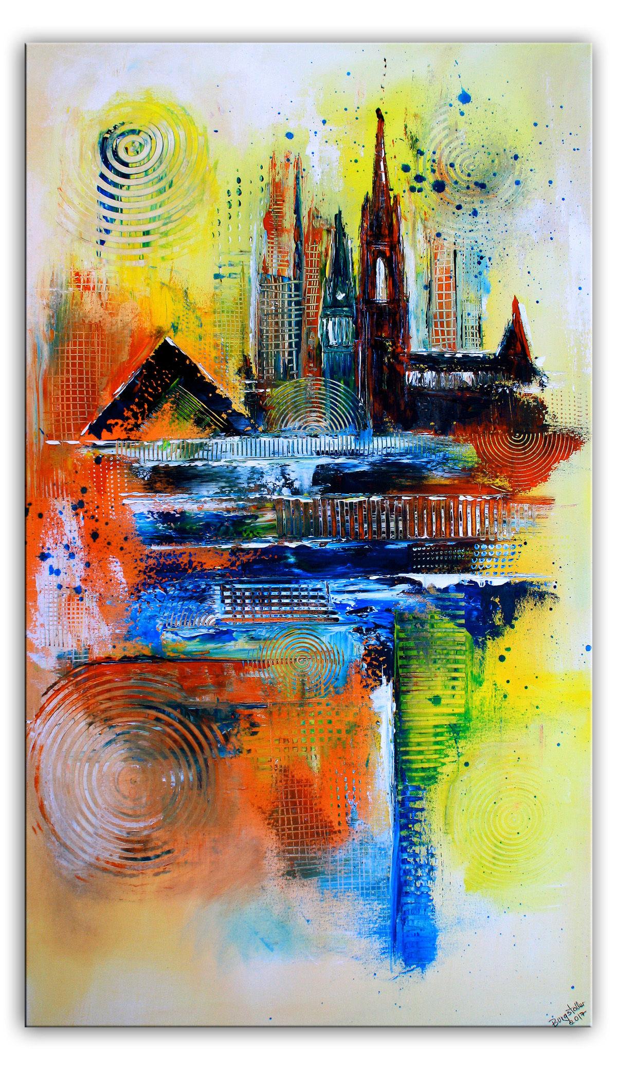 Abstrakt, Rot, Modern Art, Skyline Bild