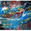 Abstraktes leinwandbild, Querformat, Kunst malerei, Malerei abstrakt
