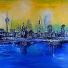 Stadt malerei, Fernsehturm, Museum, Malerei