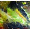 Abstrakte kunst, Acrylbild handgemalt, Pouring, Malerei