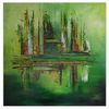 Kunst bild, Abstraktes leinwandbild, Gemälde, Hauptfarbe grün
