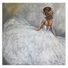 Goldenes haarband, Brautmoden, Wandbild, Ballerina