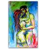Akt, Acrylmalerei, Intimität, Mann frau