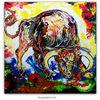 Abstrakt, Acrylmalerei, Bulle, Tiere