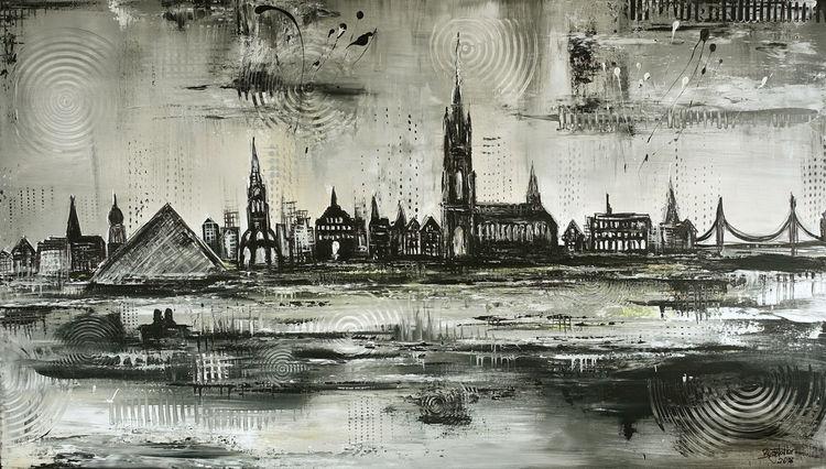 Bücherei, Malen, Ulm, Münster, Malerei, Stadt