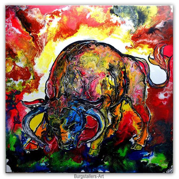 Tiere, Bulle, Malen, Malerei, Stier, Gemälde