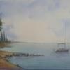 Baum, Landschaft, Aquarellmalerei, Grün