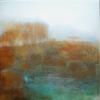 Landschaft, Rost malerei, Beige, Blau