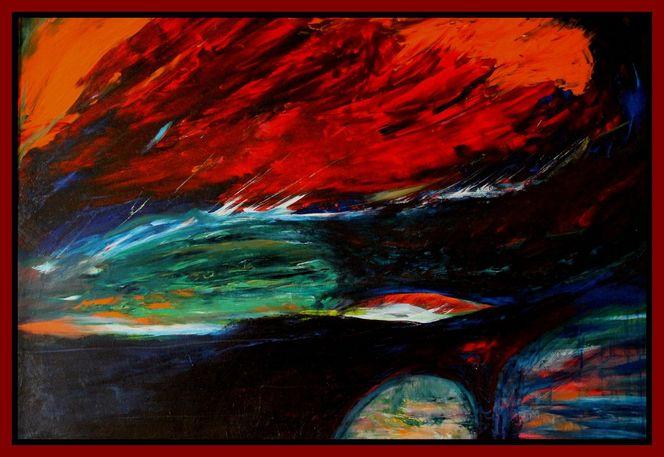Abstrakt, Ölmalerei, Landschaft, Malerei