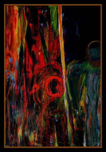 Mischtechnik, Ölmalerei, Acrylmalerei, Malerei, Mann