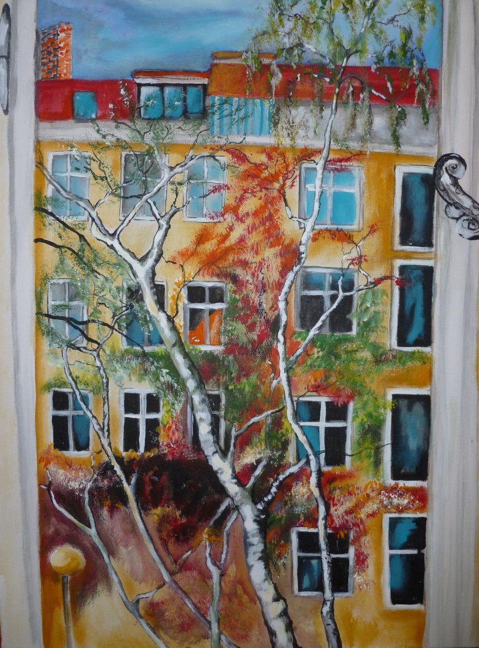 Fenster zum hof bild kunst von panter bei kunstnet for Fenster zum hof