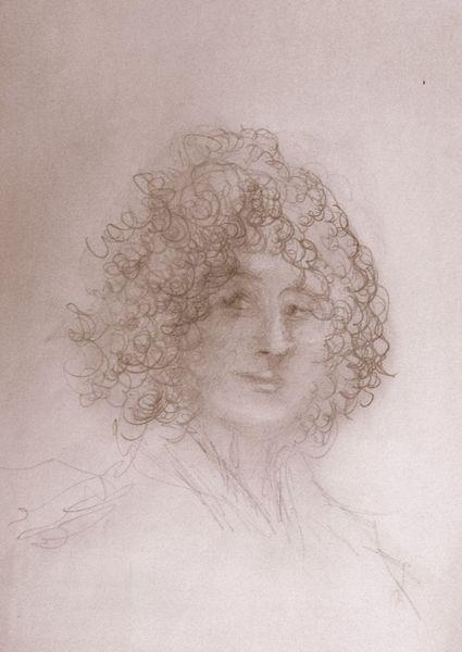 Gefühl, Licht, Gesicht, Skizze, Blick, Portrait