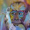 Sehnsucht, Affe, Abstrakt, Malerei