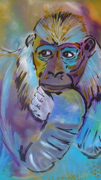 Abstrakt, Sehnsucht, Affe, Malerei