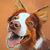 Hundeblick, Hundeschnauze, Hund, Malerei