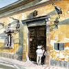 Wärme, Kolonialarchitektur, Mexiko, Lateinamerika