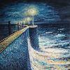 See, Sturm, Impressionismus, Horizont