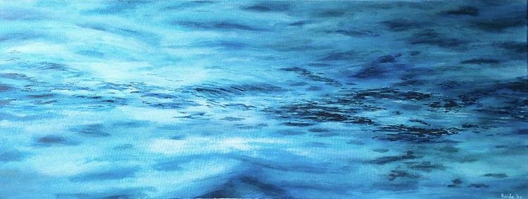Wasseroberfläche, Wasser, Welle, Acrylmalerei, Meer, Nordsee