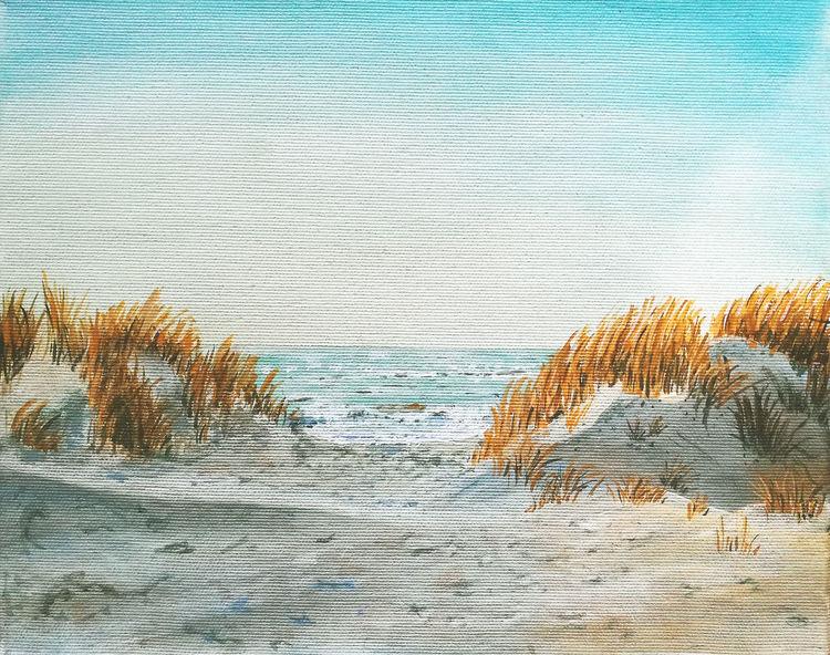 strand bei bjerregard  urlaub maritim meer dünen von