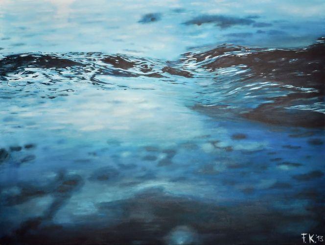 Welle, Blau, Wasser, Wasserspiegel, Wasseroberfläche, Realismus
