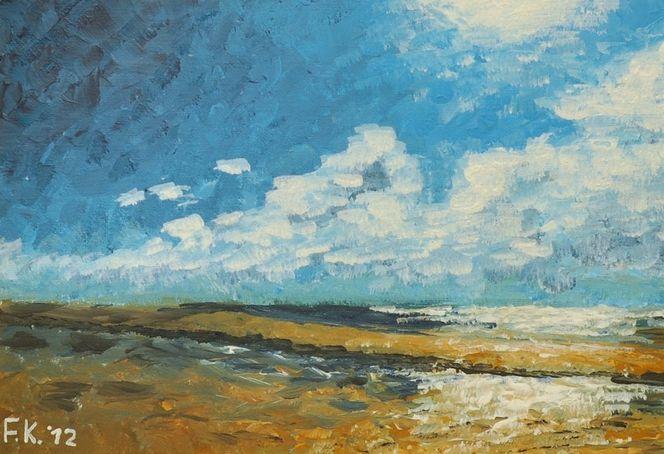 Impressionismus, Meer, Urlaub, Wattenmeer, Küste, Nordsee