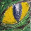 Auge krokodil, Malerei