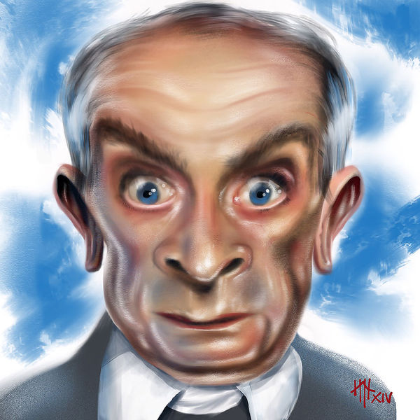 Illustration, Louis de funes, Karikatur, Digitale kunst