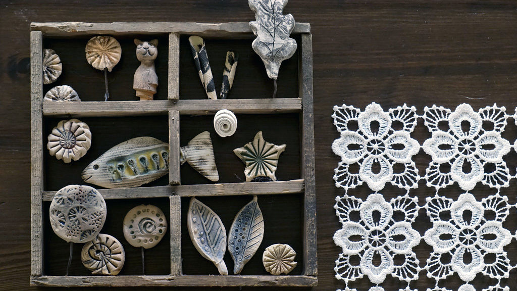 bild wandschmuck gebrannt keramik fische von. Black Bedroom Furniture Sets. Home Design Ideas