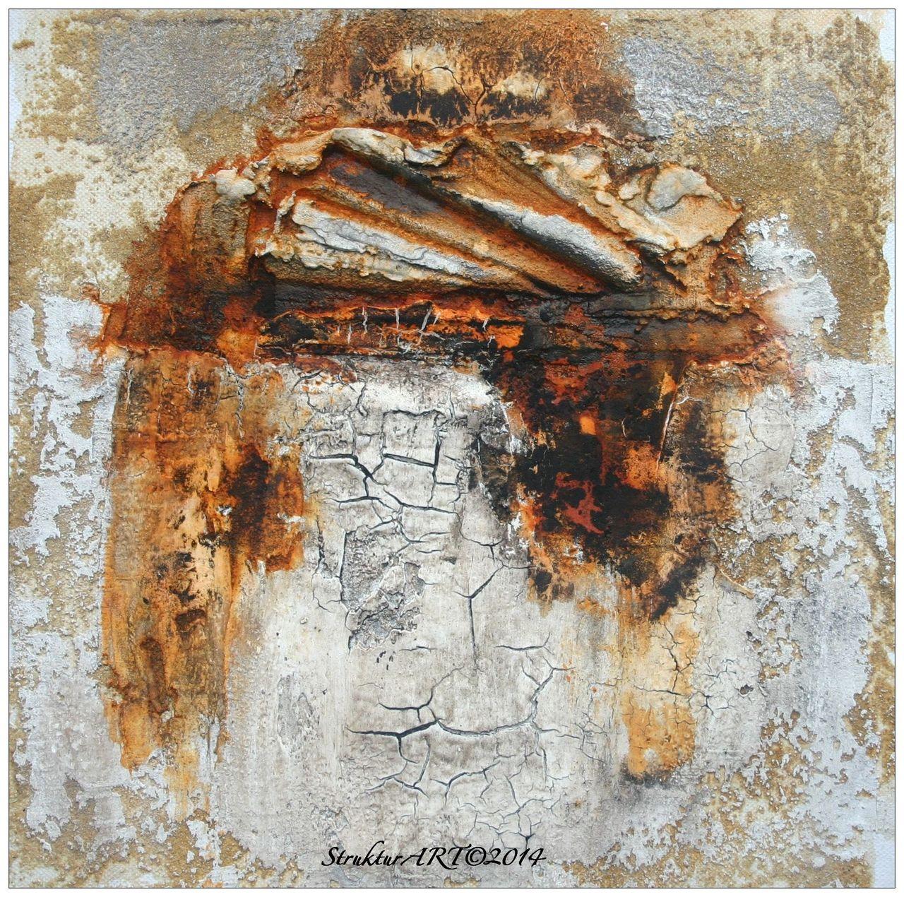 Bild: Struktur, Zeitgenössische kunst, Marmormehl, Pigmente von ...