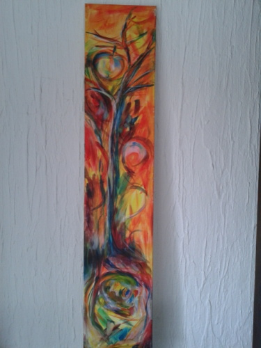 Acrylmalerei, Malerei, Pflanzen, Baum,
