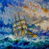 Segelschiff, Schiff, Atlantik, Segel