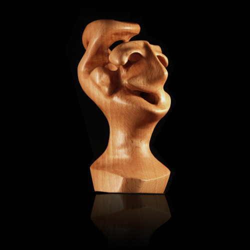 Surreal, Skulptur, Holz, Antropomorph, Fantastisch, Biomorph