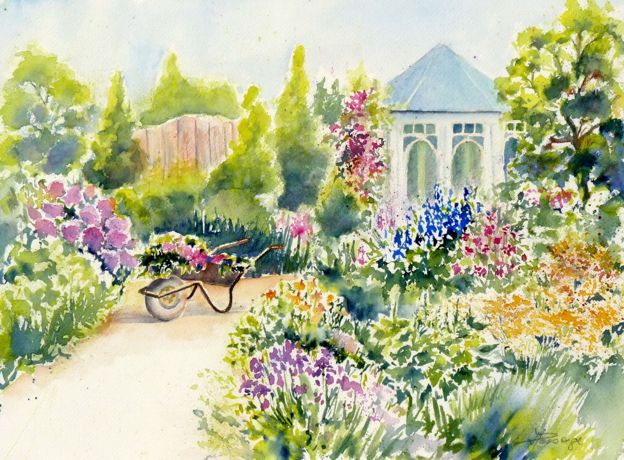 Kunstnet works watercolor plants ot