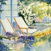 Sommer, Blumen, Garten, Malerei