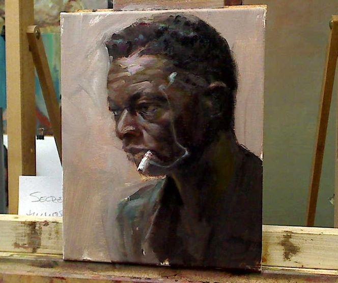 Malerei, Gemälde, Farben, Ölmalerei, Portrait, Alla prima