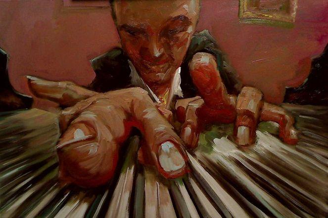 Portrait, Ölmalerei, Prima, Alla, Malerei