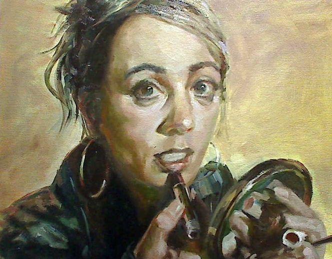 Portrait, Ölmalerei, Alla, Prima, Malerei