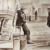 Malerei, Venedig, Gemälde, Kanal