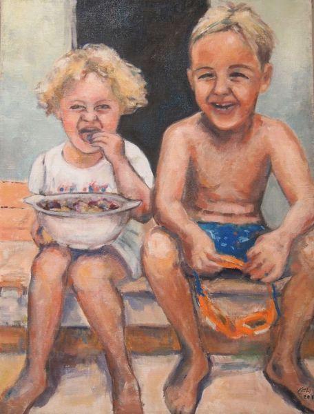 Realismus, Sommer, Urlaub, Impressionismus, Kids, Süden
