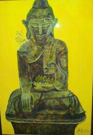 Malerei, Buddha