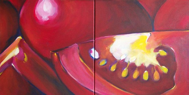 Realismus, Acrylmalerei, Gemüse, Malerei, Stillleben