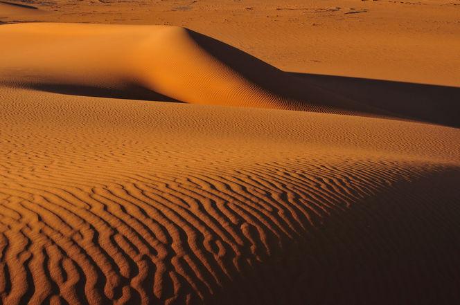 Dünen, Sand, Struktur, Wüste, Monochrom, Sahara