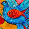 Liebe, Leuchtkraft, Lebendigkeit, Taube