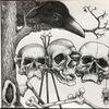 Schädel, Rabe, Metall, Zeichnungen