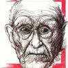 Blick, Rückblick, Alter, Portrait